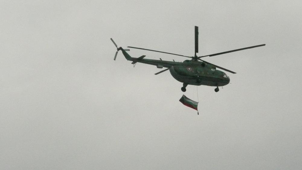 хеликоптер вертолет софия знаме военен българия