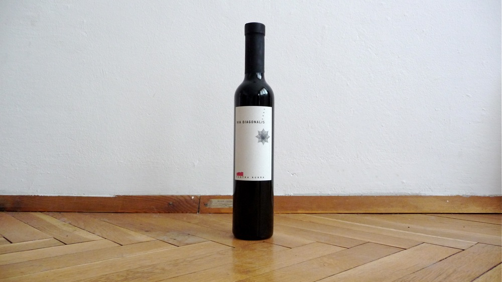 вино via diagonalis българско малка бутилка мерло каберне
